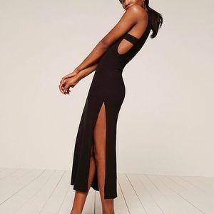 Reformation black open size dress